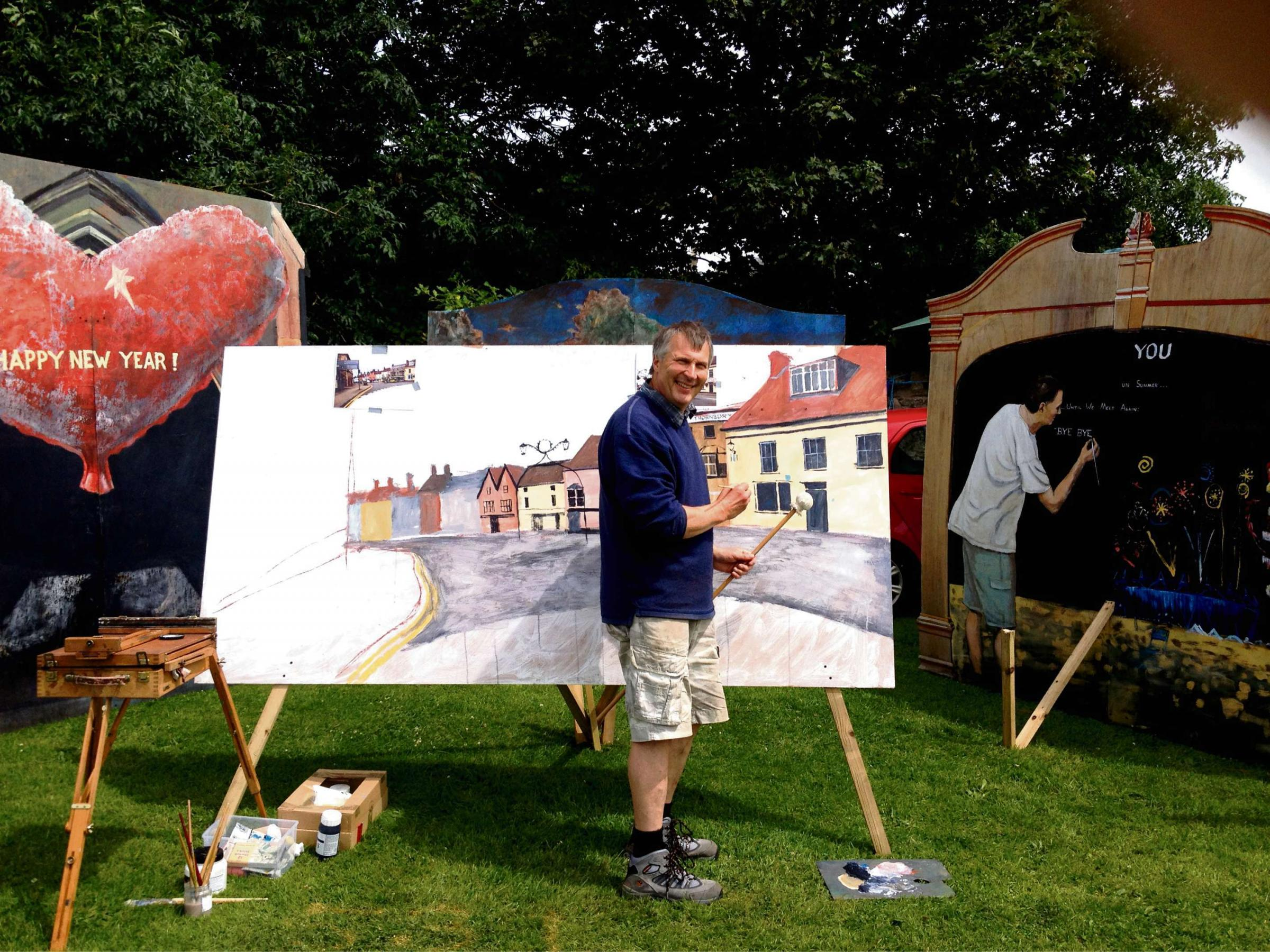 Artist Angus in demand at Thornbury carnival