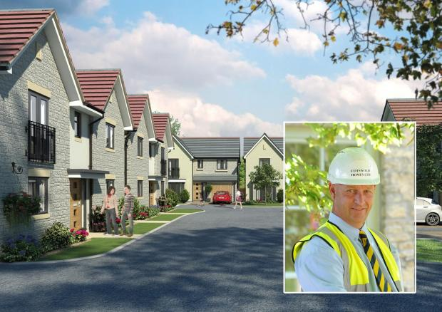 Gazette Series: Inset Cotswold Homes' award-winning site manager Dave Beckey from Kingswood and the Cotswold Homes' Wildwood development in Mangotsfield he is working on (8264238)
