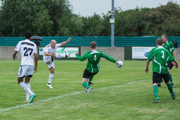 GOAL: Luke Rodgers opens the scoring for Forest Green   Pic:Shane Healey