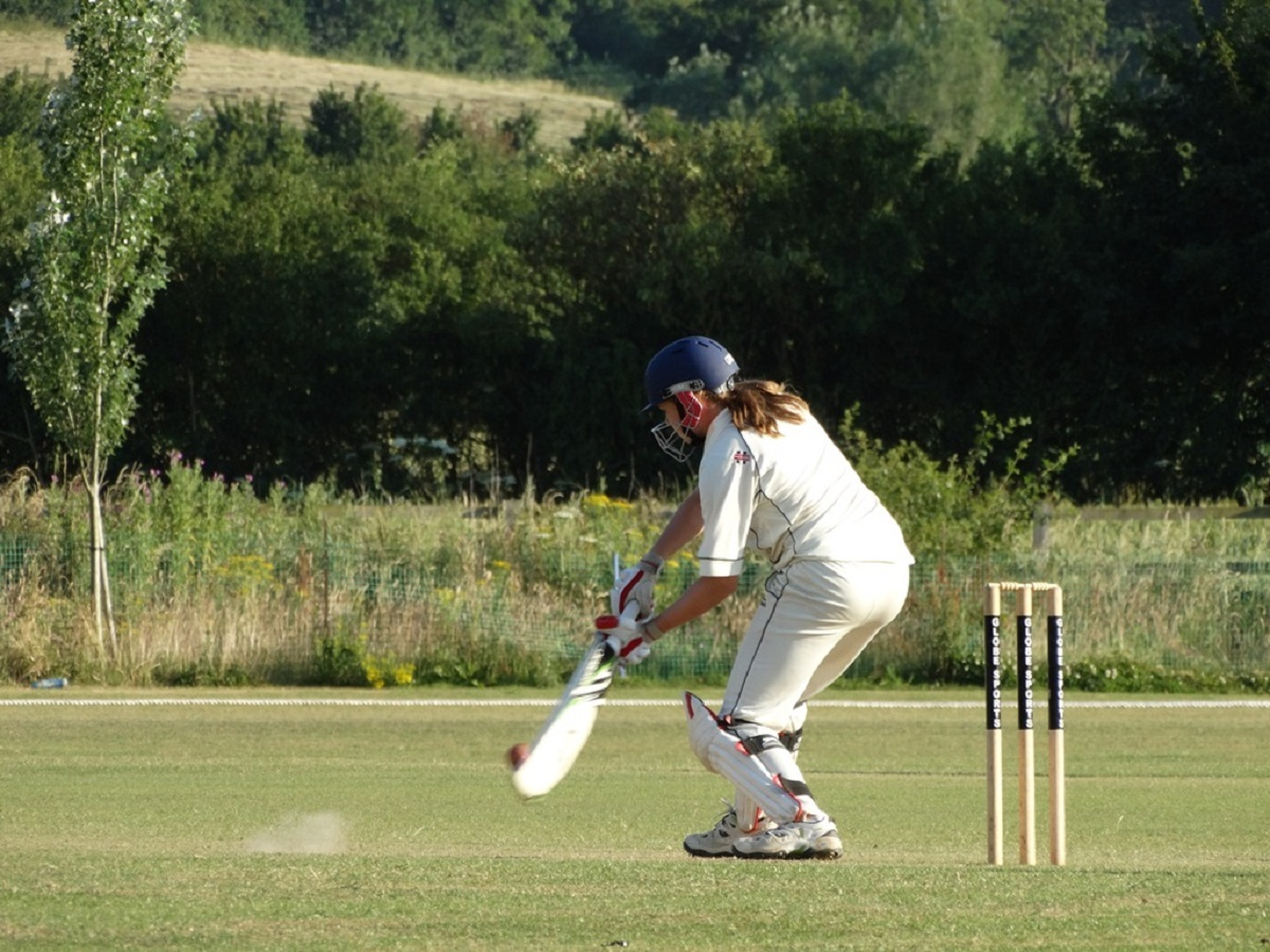 Emily Wilkins scoring 44 for Gloucestershire
