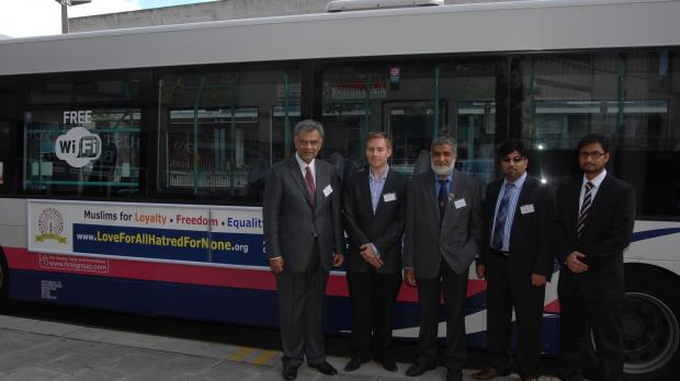 The Ahmadiyya Muslim association in Bristol launches its bus campaign