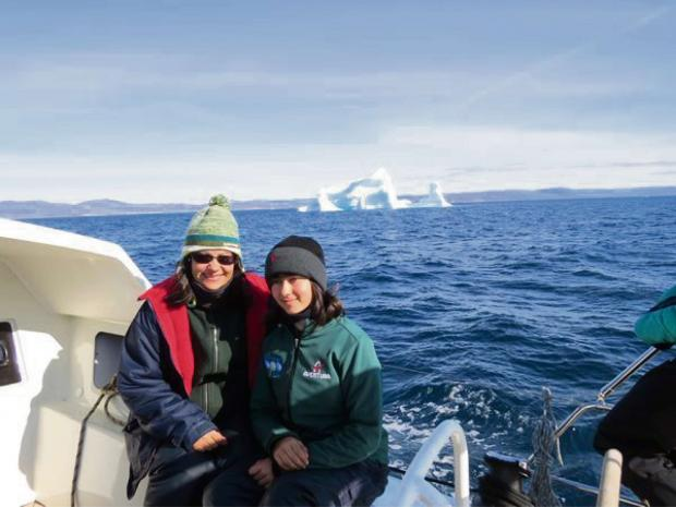 Doina Coirnell, 46, and her 15-year-old daughter Nera from Cam on their voyage across the Northwest Passage on the Arctic Ocean (8565141)