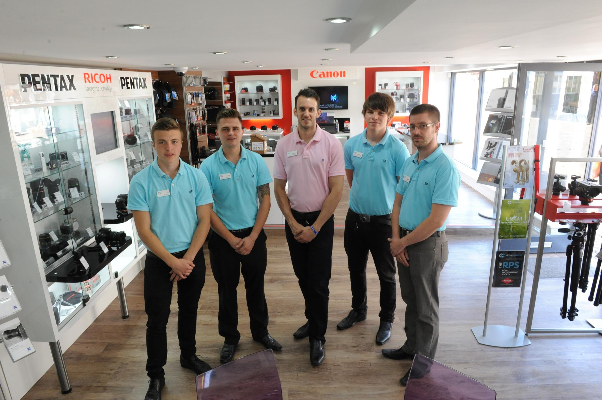 SR_302_001     Staff at Clifton Cameras in Dursley (8700839)