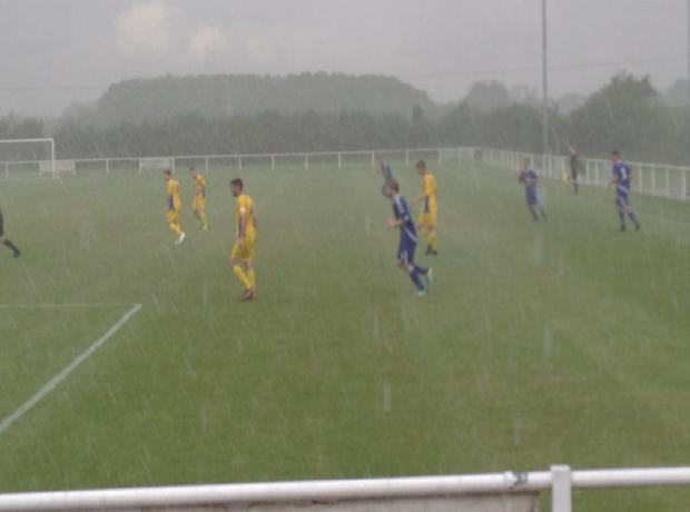 Conditions at Wisloe Road just before the enforced break in the first half