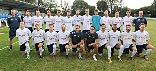 Yate Town 2014-15 squad. Not pictured: Jake Cox, Martin Horsell.