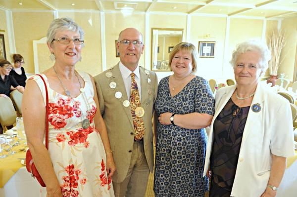 Mayor of Thornbury Cllr Guy Rawlinson and his wife Andrea with Jane
