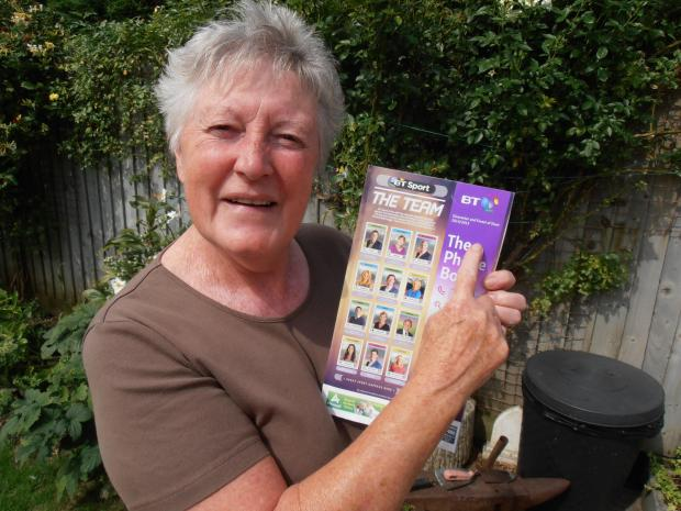 Slimbridge resident Vandra Nicholls holding her useless Forest of Dean directory which she has been delivered for years
