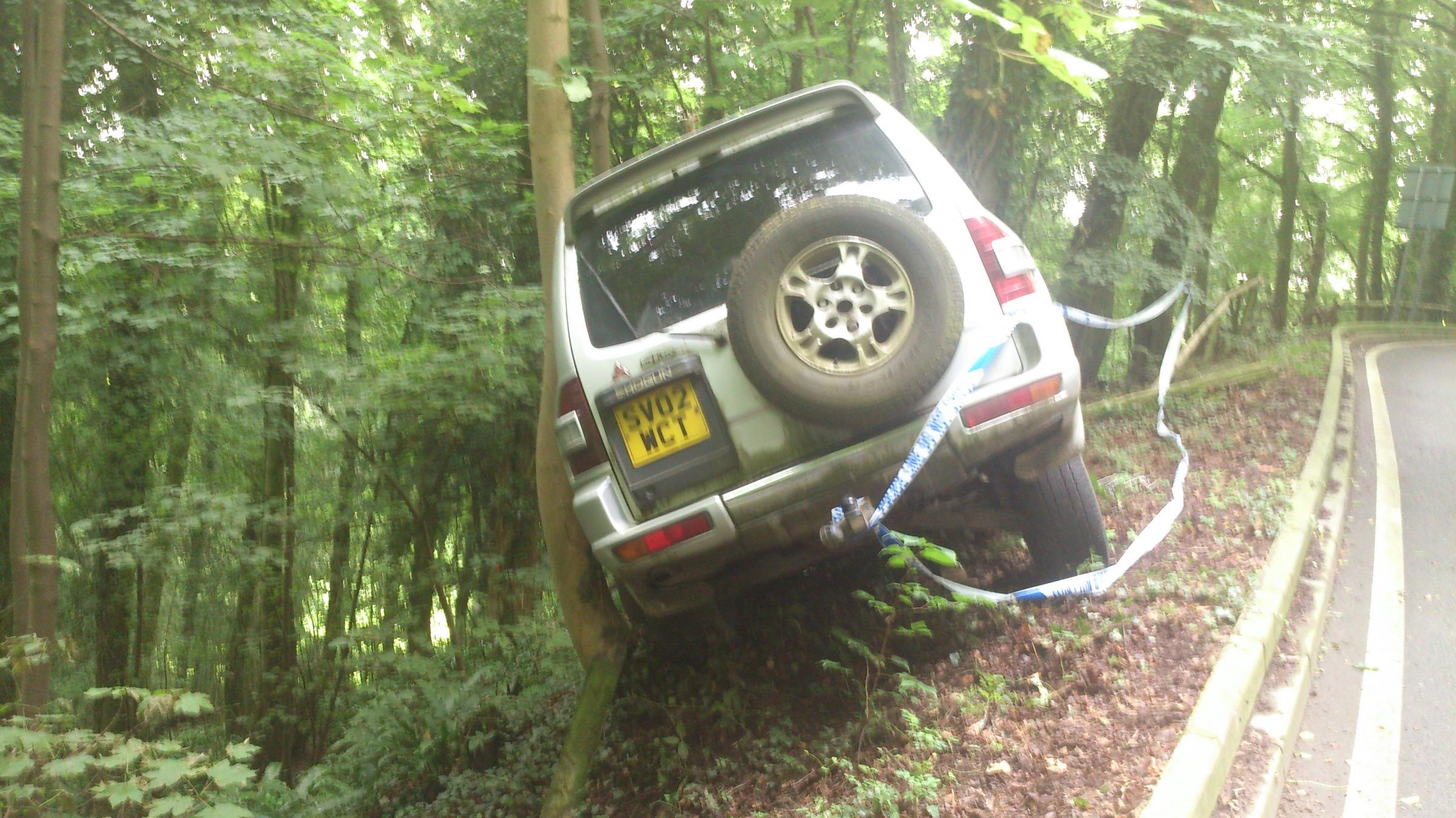 VIDEO: 4X4 recovered from edge of steep drop in Dursley