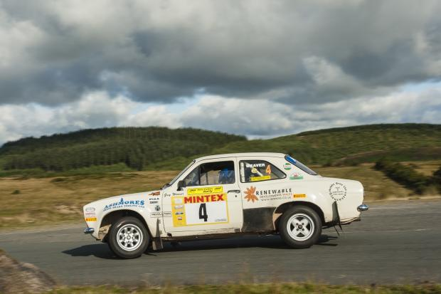 David Stokes in action at the Harry Flatters Rally. Picture by Chris Huish