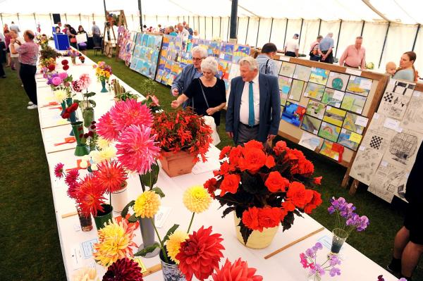Inside the marquee at last year's Hawkesbury Show