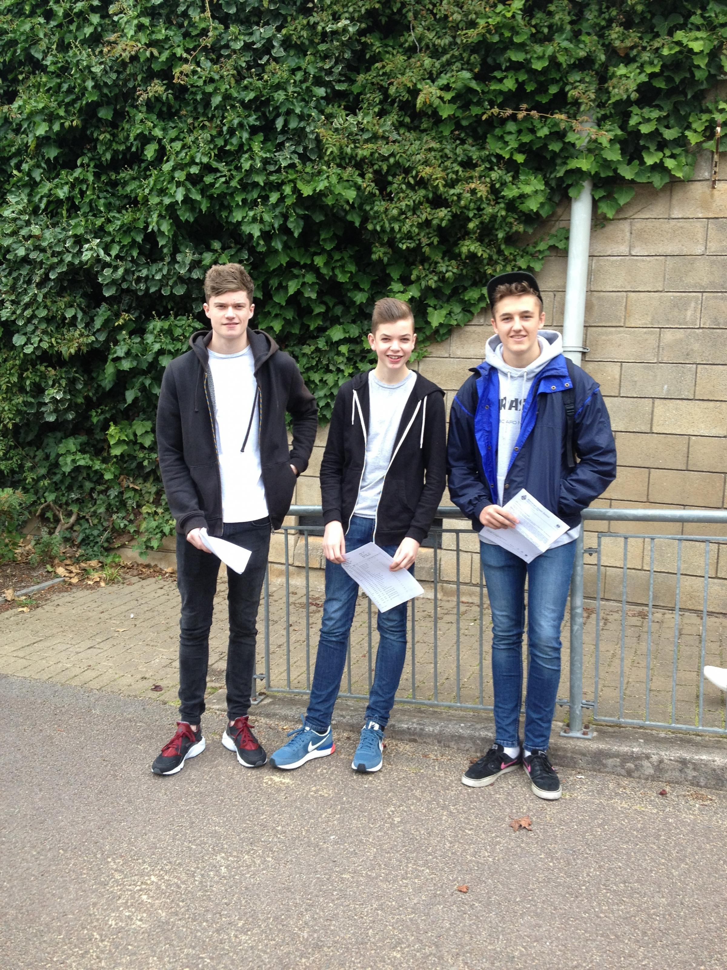 Students celebrate their GCSE results at Brimsham Green School in Yate