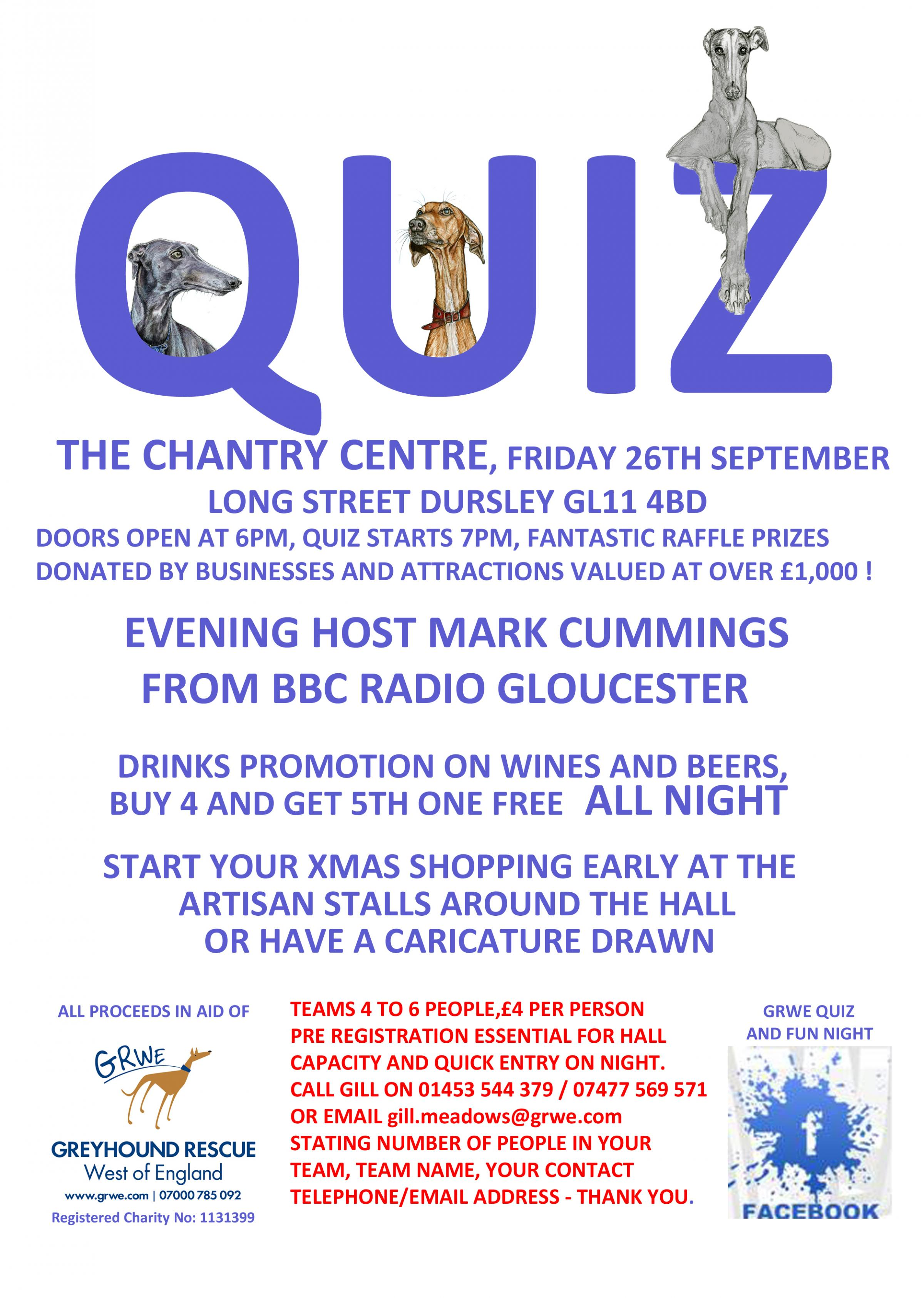 Dursley quiz night to raise money for greyhound charity