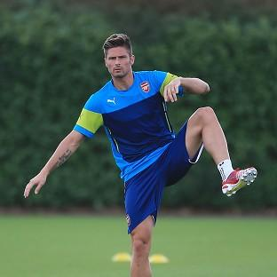 Arsenal's Olivier Giroud picked up an injury in the 2