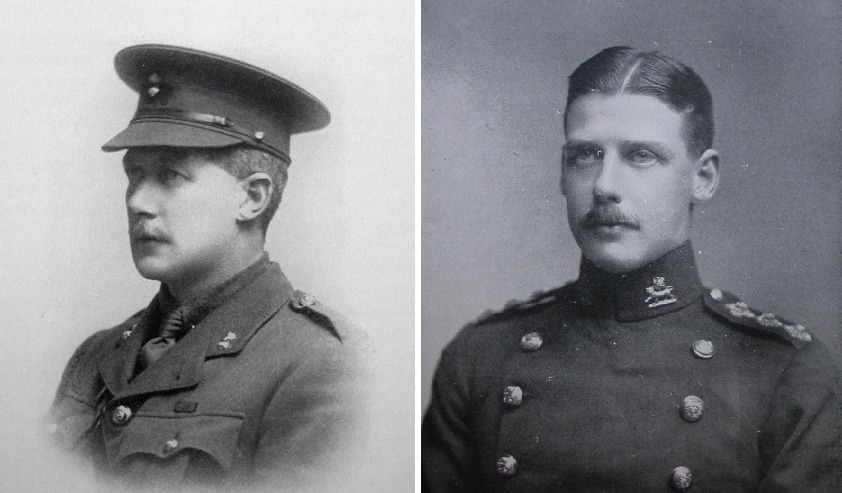 From left, Major Charles Jarrett and his brother Captain Aylmer Jarrett