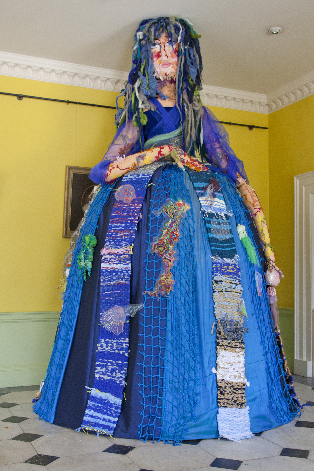 The 12-foot-high sea witch that now stands in the foyer of Kingshill House, Dursley (9972306)