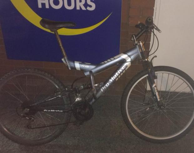 The Pro-Motive DS 500 mountain bike recovered by police at Yate Shopping Centre (10001403)
