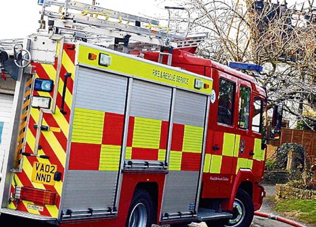 Fire crews tackle car fire in Gloucester