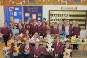 Pupils at Manorbrook School's charity sale