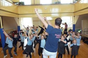 Youngsters from a Hillesley school get a taste of dances from around the world