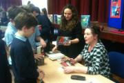 Children's author Virginia Bergin spent an afternoon with Year 7 students at Castle School in Thornbury (19540953)