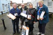 SR_1562_001     Dave Fullman, Alan Vizard, Jan Levell and Jan Fullman in Thornbury collecting signatures for their 38 degrees petiton to save the NHS from privatisation (19713094)