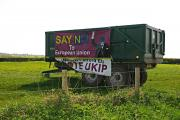 Farmer hits out at vandals targetting election UKIP banners