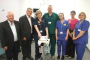 Malcolm Arnold and Rae Care from the Bristol Area Cardiac Support Group with A&E staff Juliette Hughes, Dr Jules Blackham, staff nurse Sophie Chilcott, Dr Leilah Dare and staff nurse Jo Forrester. 24738962)