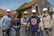Some of the volunteers outside the Ebenezer Chapel in Winterbourne which is being refurbished and will be named The Hat Factory
