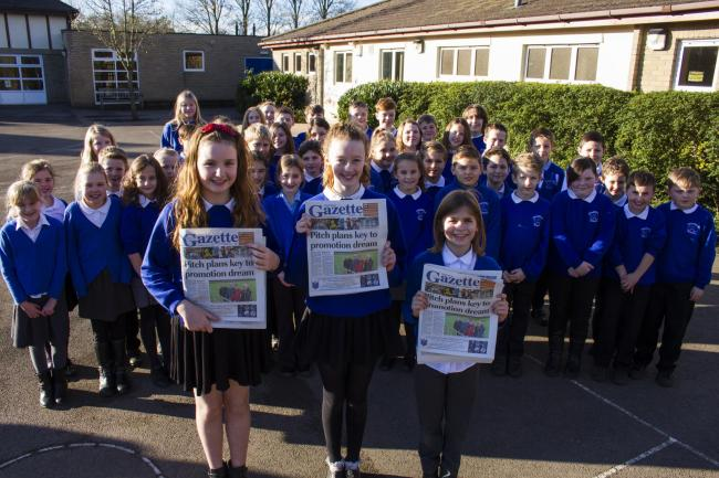 The Charfield Chatter team who have been working together to create the school's first newspaper
