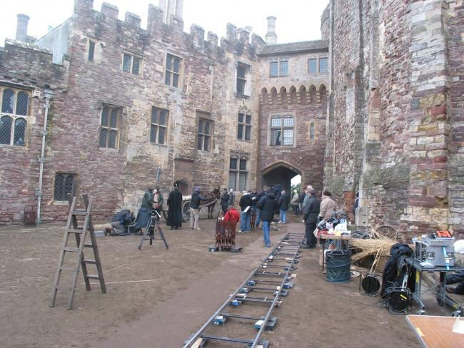 Crews Filming At Berkeley Castle For Bbc Series Exploring The Lives