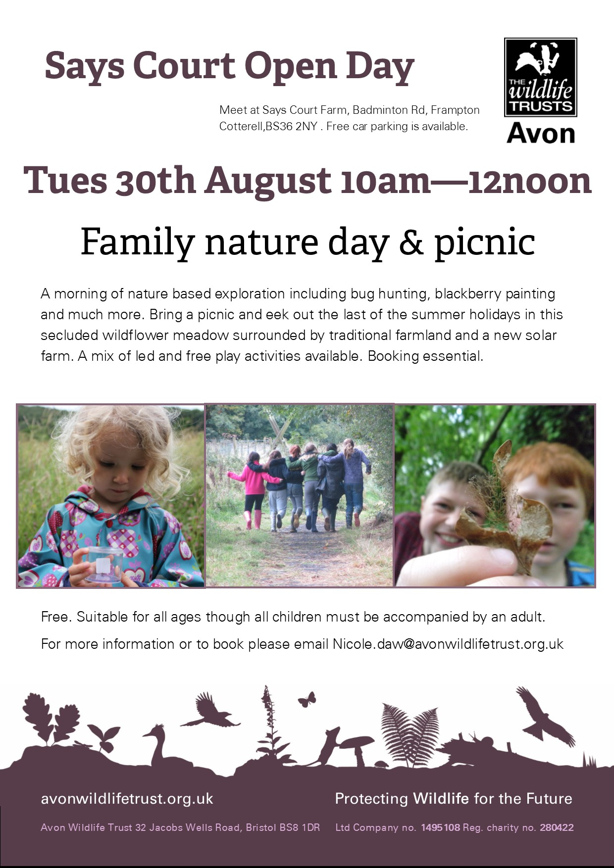 Family nature day & picnic at Says Court Farm