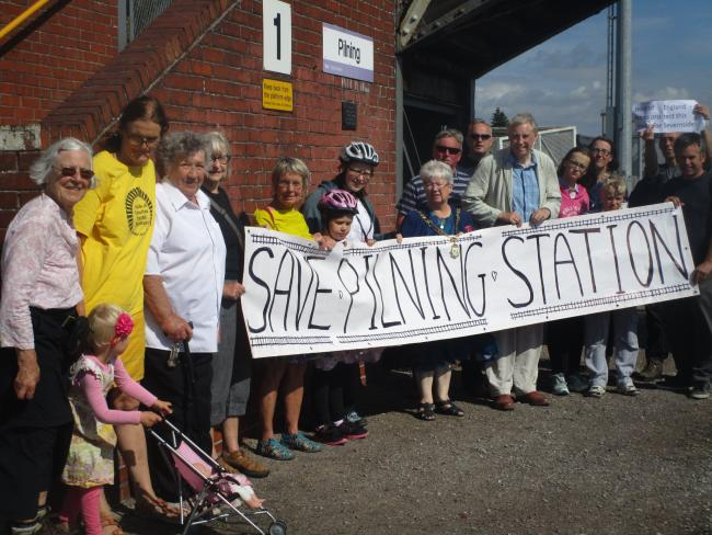 The campaigners from Pilning and from Friends of Suburban Bristol Railways