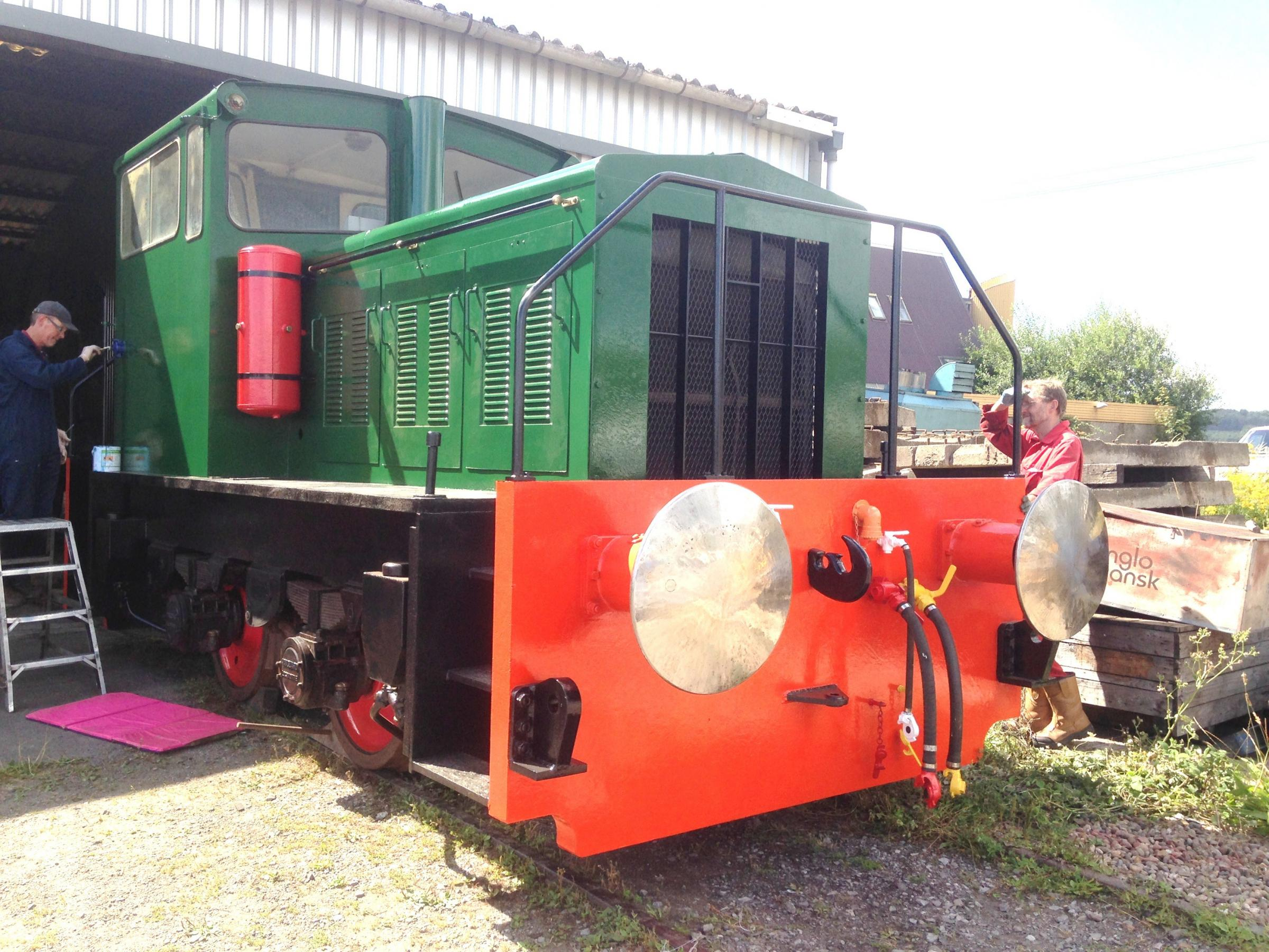 Volunteers have been working over months to bring the shunter back to its best