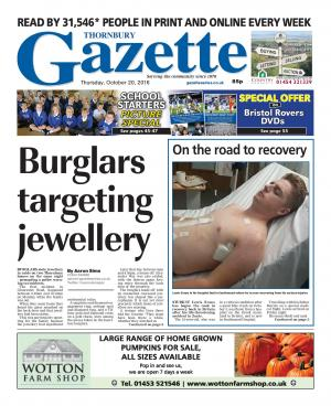 Gazette Series: This week's Thornbury edition front page