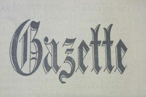 GAZETTE THROUGH THE YEARS: April 1997 to April 2007