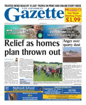 Gazette Series: This week's Yate and Sodbury edition front page