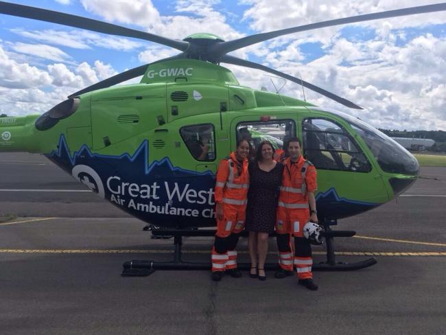 Great Western Air Ambulance Charity celebrates arrival of new helicopter