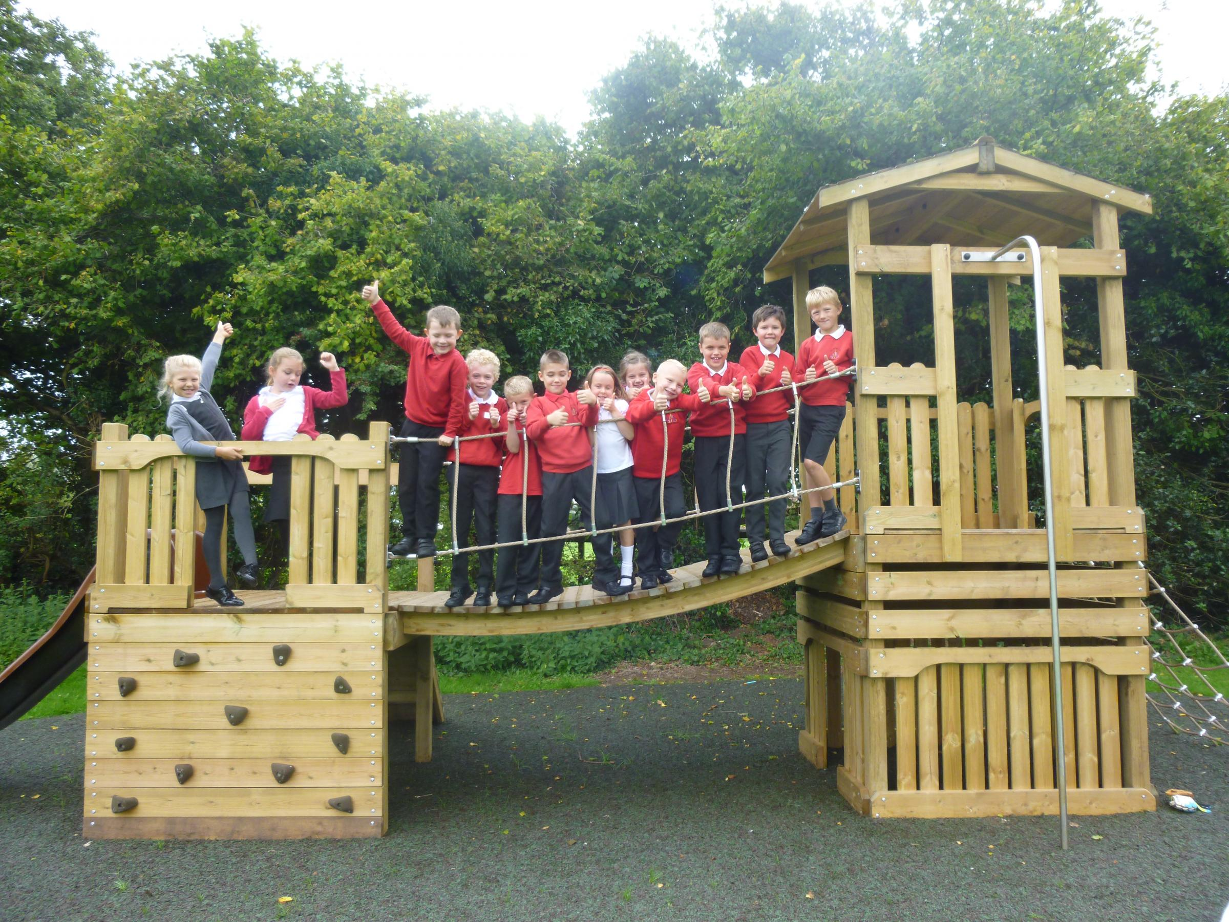 Iron Acton primary school gets exciting new play equipment