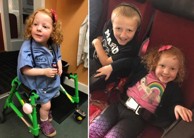 Thornbury toddler Ezzy Hodge flies to USA for life changing surgery after campaign raises £80,000