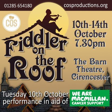 COS Productions give their award-winning talents to a production of Fiddler on The Roof at The Barn Theatre in Cirencester