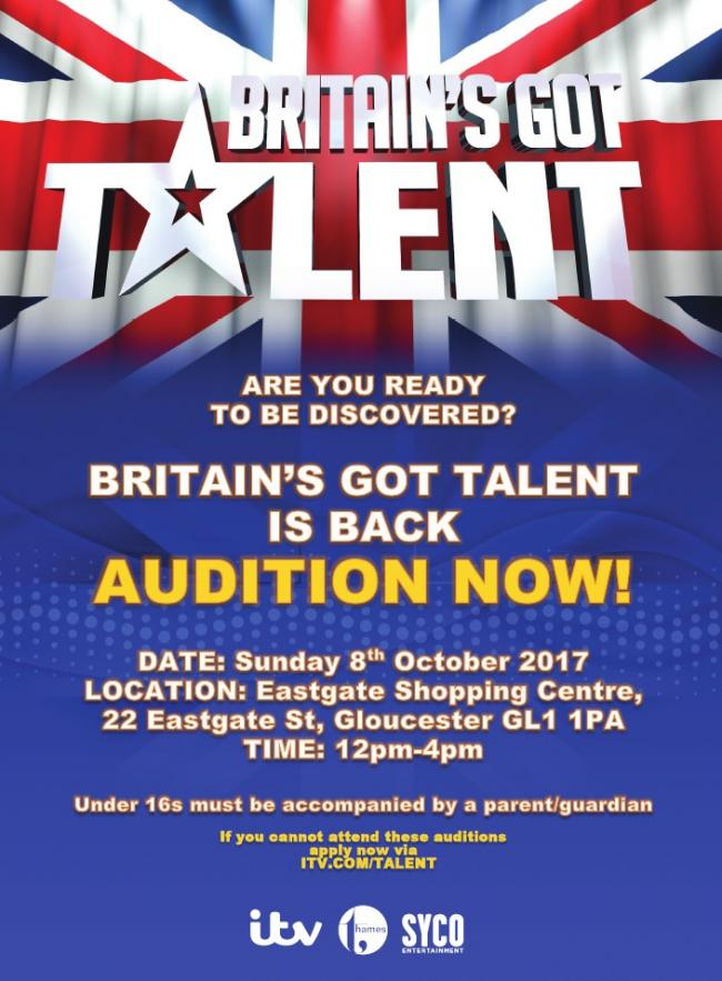 Britain's Got Talent team to hold auditions in Gloucester
