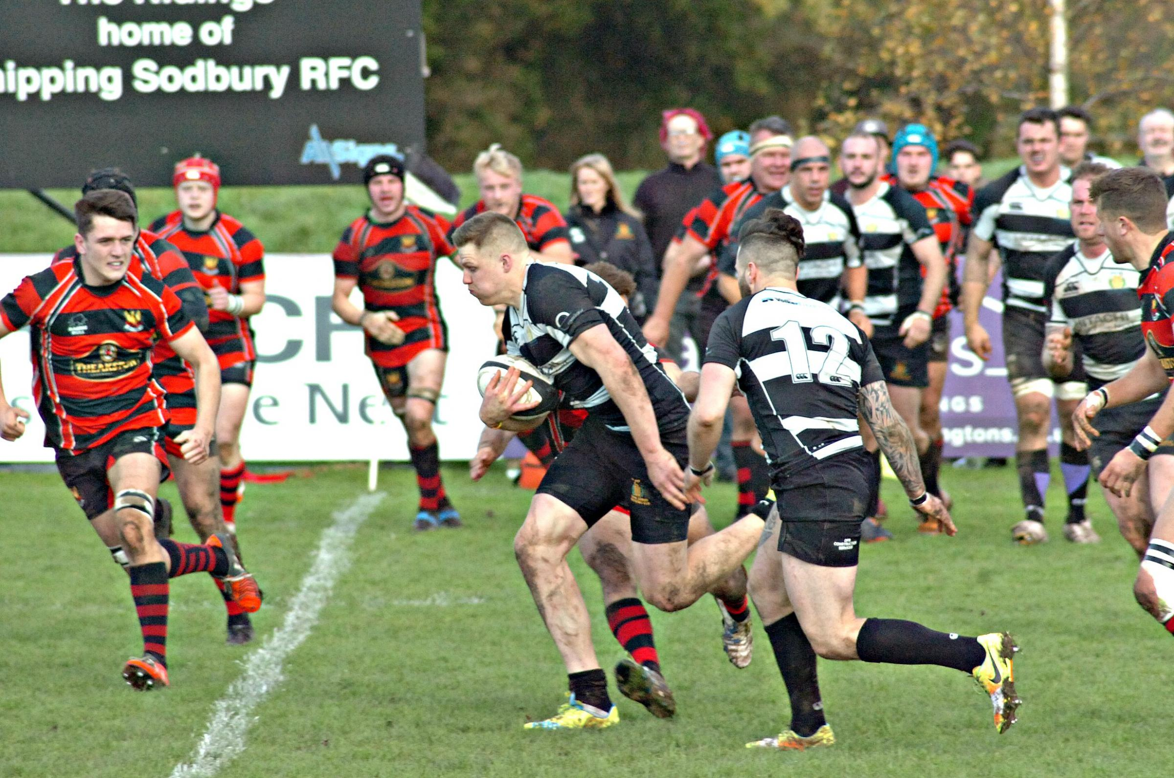 Chipping Sodbury on the charge against Cirencester last Saturday