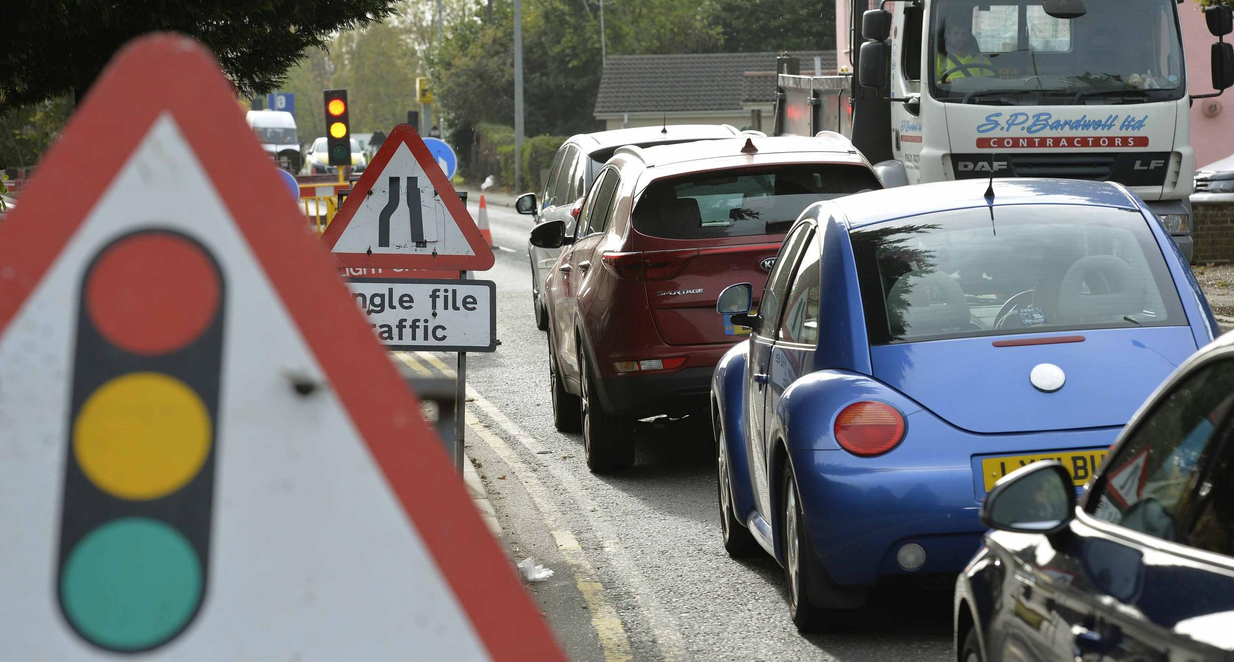 Temporary traffic lights and roadworks continue to cause delays around Stroud and South Gloucestershire