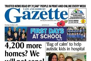 This week's Yate and Sodbury edition front page