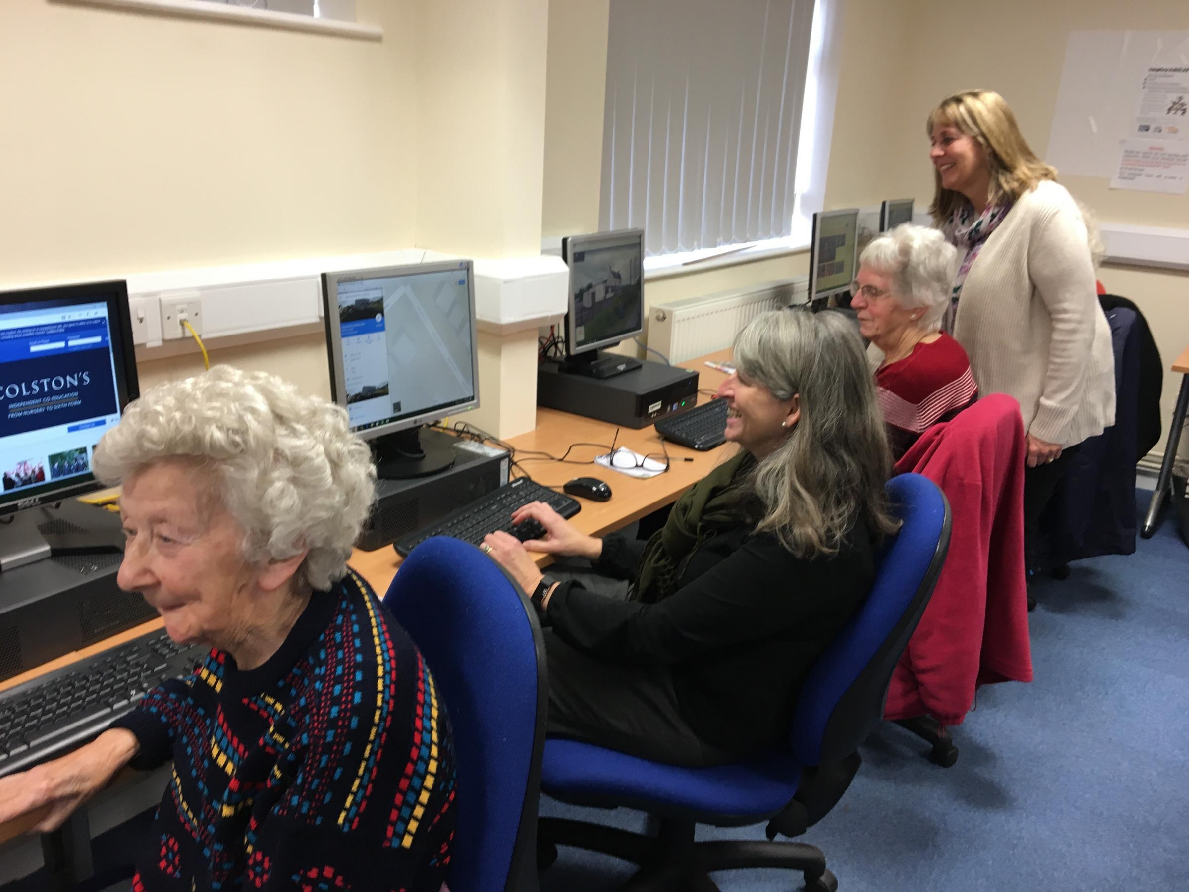 The new computers being used at GL11 Community Hub