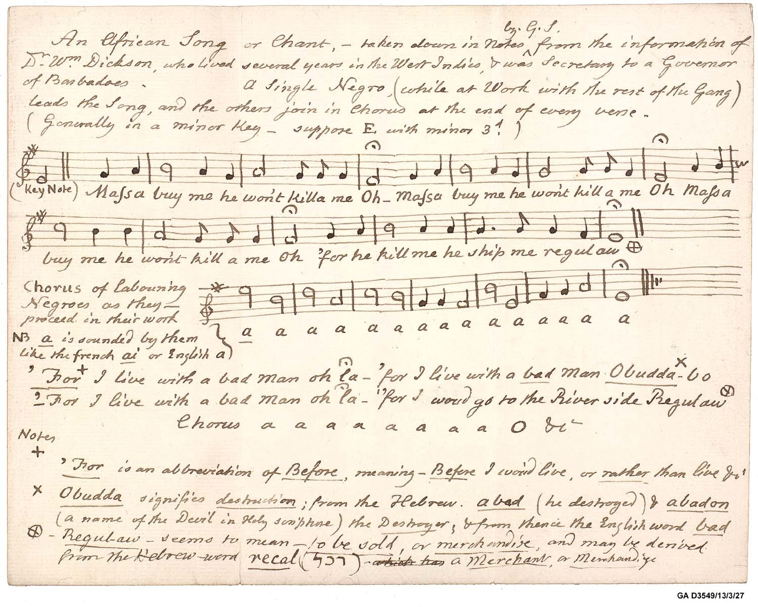 Barbados Slave Song With Link To Uley Is Added To Unesco Register