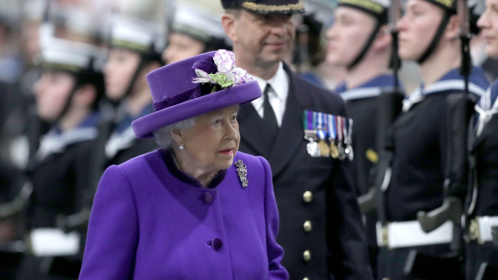 The Queen arrives for the commissioning ceremony (Andrew Matthews/PA)