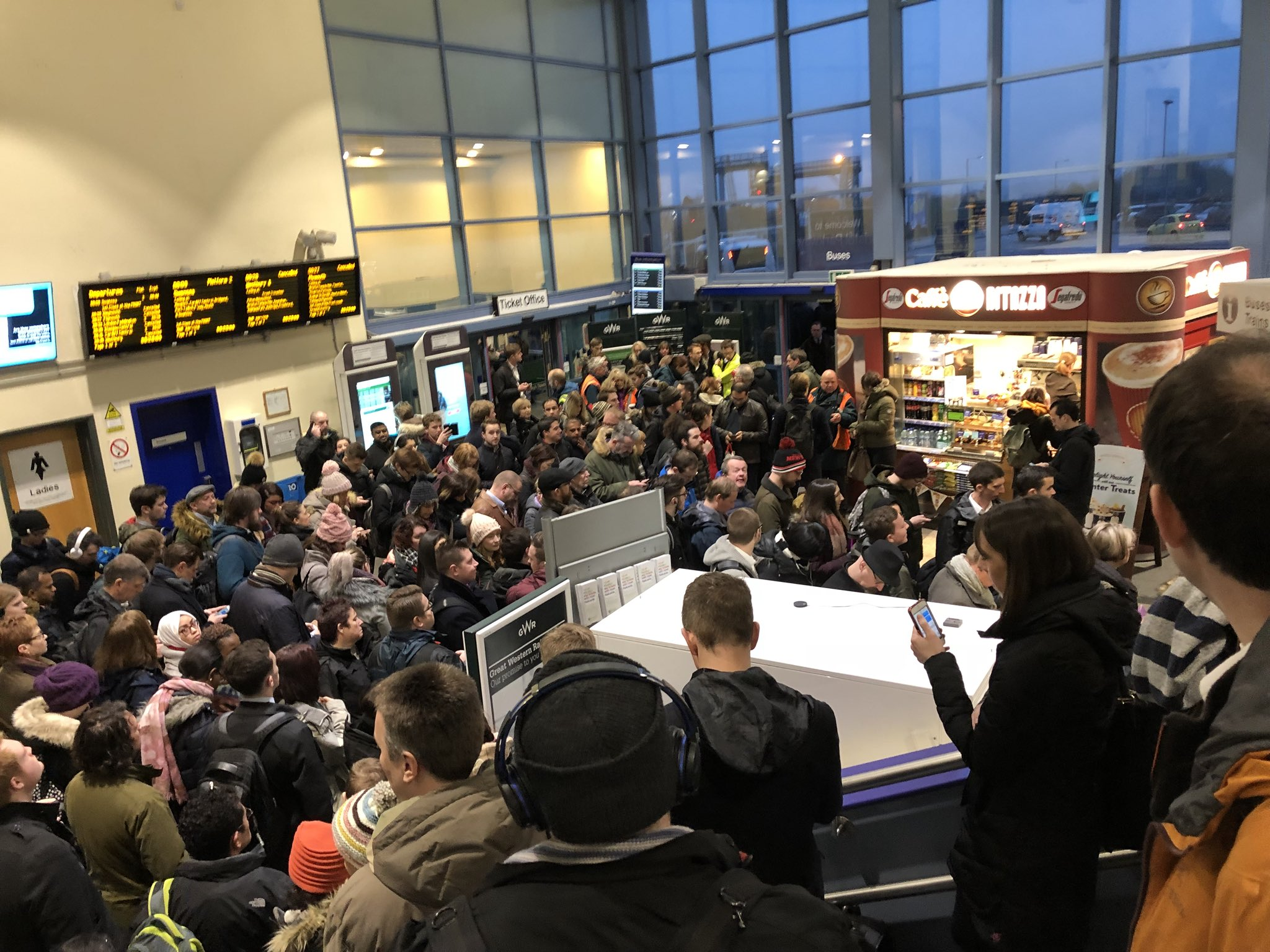 Chaos at Bristol Parkway Station. Picture: Phil Shean