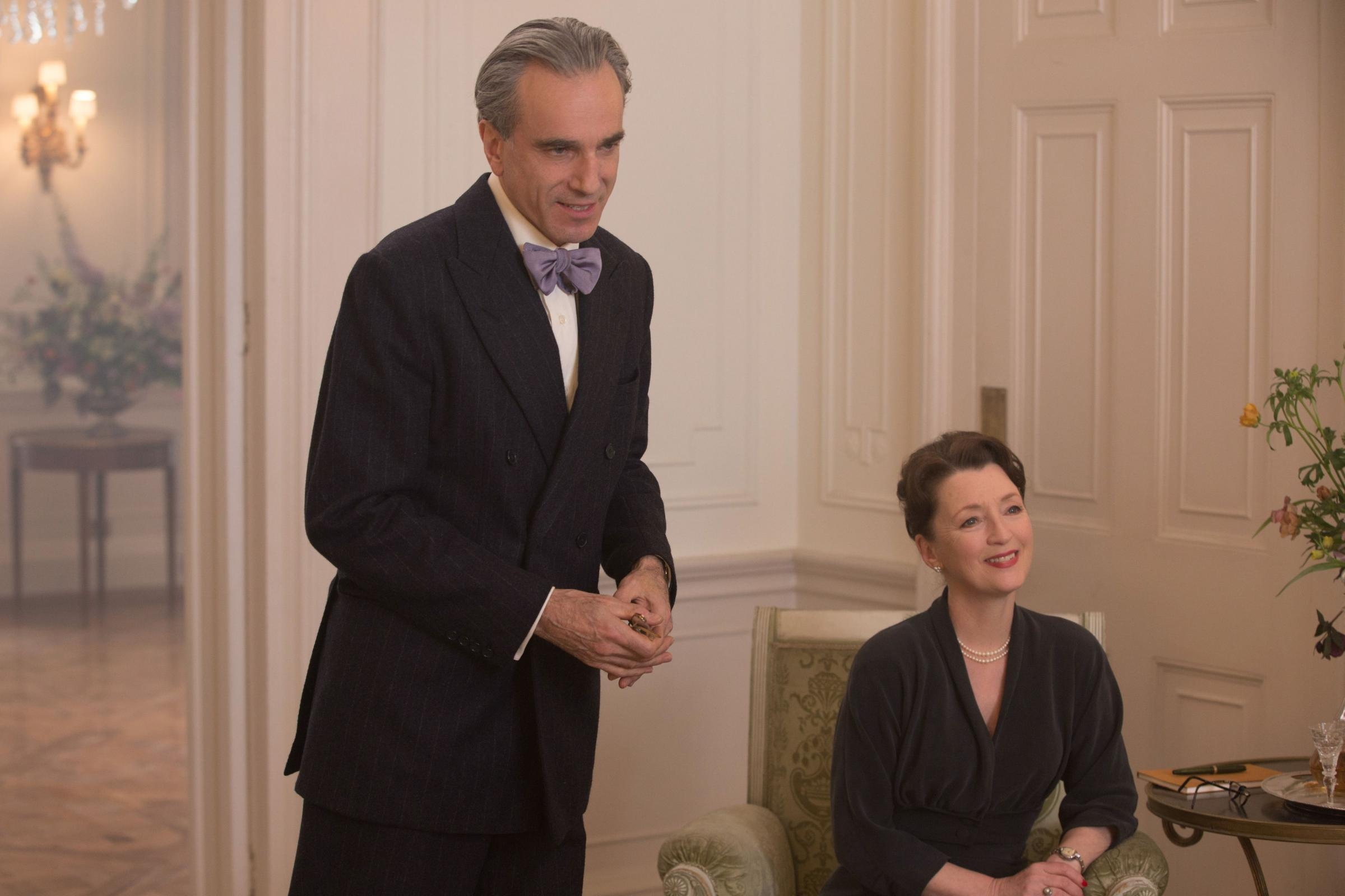 Daniel Day-Lewis as Reynolds Woodcock and Lesley Manville as Cyril. Picture: PA Photo/Focus Features/Universal Pictures/Laurie Sparham
