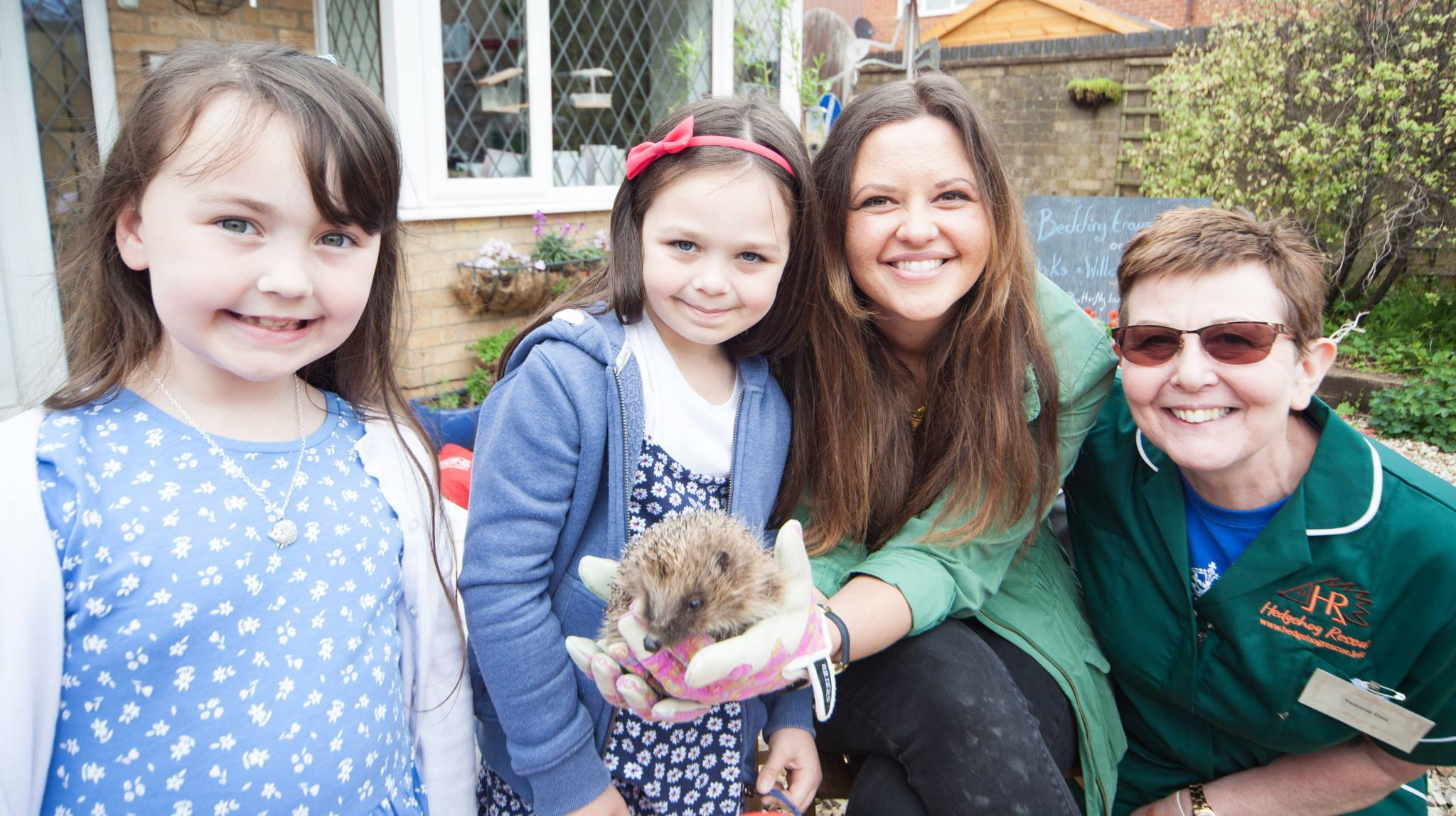 CBBC wildlife and children's TV presenter Ferne Corrigan (centre) joined Yvonne Cox (right) and visitors at Hedgehog Rescue's open day. Photo by Rich McD